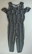 Joey B. Girls Romper Size M Black White Stripe Elephant Pants Outfit New - $27.71
