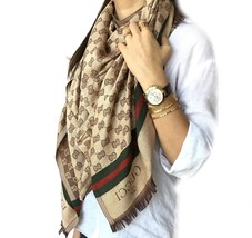 GUCCI Scarf & Unisex (*Double Layer*) Ultra soft Stylish HIGH QUALITY ~B... - $44.99