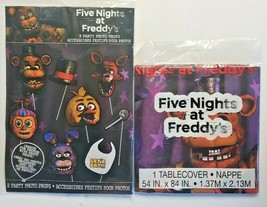 Five Nights at Freddy's Photo Props 8 Styles Per Pkg / 1 Table Cover  New Sealed - $14.99