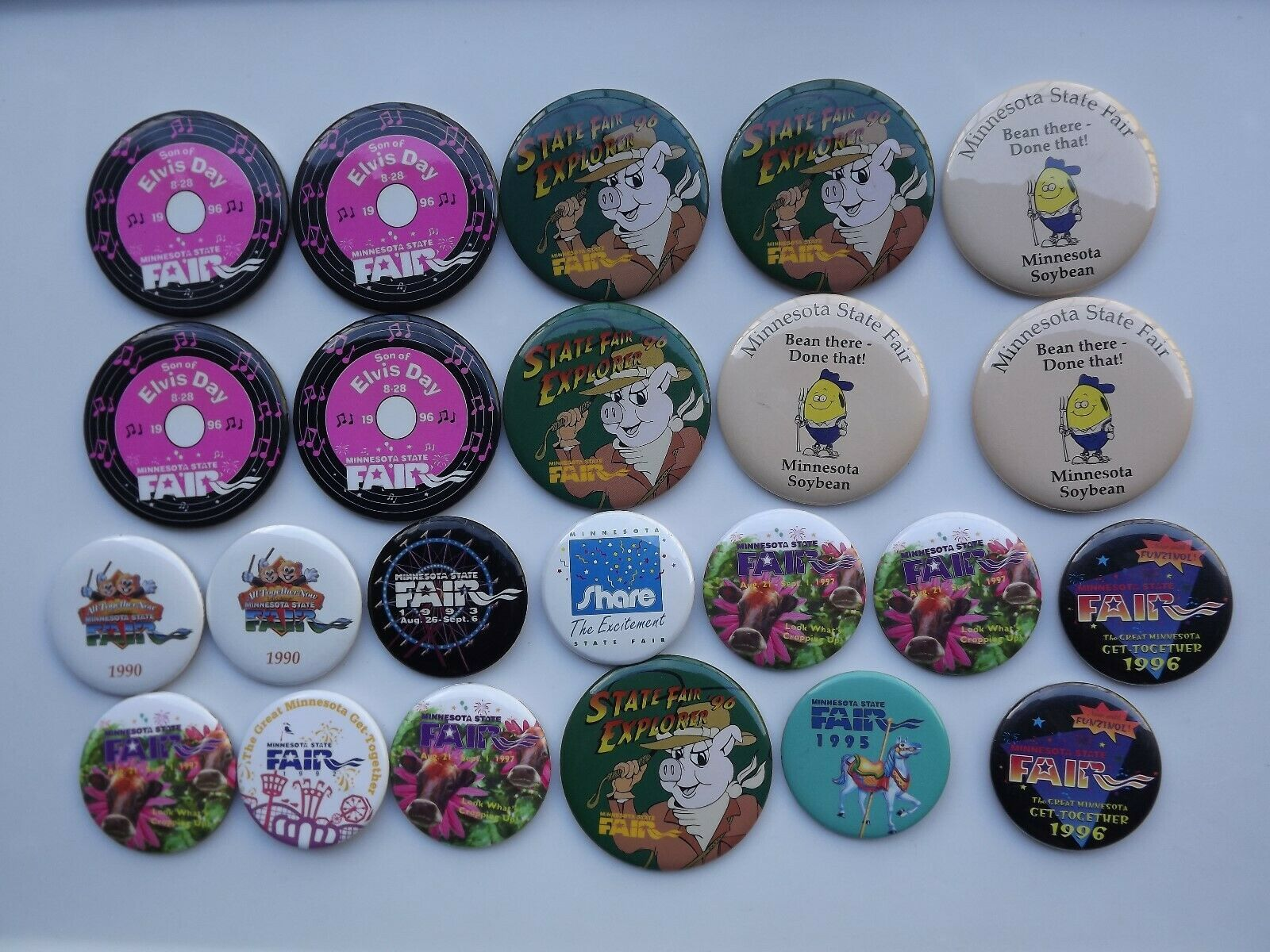 Primary image for Large Lot of Minnesota State Fair Pinback Buttons Various Years