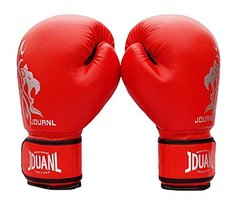 PANDA SUPERSTORE Red Leo Kids MMA Boxing Mitts Training Gloves for Muay Thai Kic
