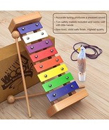 Child Safe Wooden Kids Xylophone With Mallets And Eagle Whistle For Todd... - $25.63