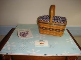 Longaberger 1996 Collectors Club Miniature Market Basket - $39.99