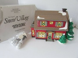 DEPT 56 54856 DUTCH COLONIAL LIGHTED BUILDING SNOW VILLAGE W/CORD  D19 - $28.37