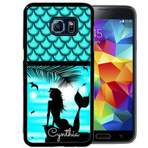 MERMAID CASE FOR SAMSUNG NOTE 9 8 5 4 RUBBER COVER PERSONALIZED BEACH BLUE - $13.98