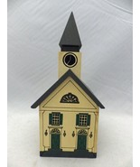 Winfield Designs - The Country Church wooden coin bank - dated 1981, sig... - $22.28