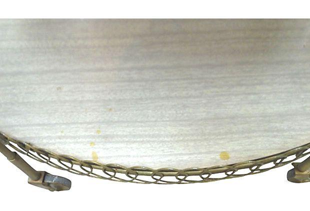 Mid-Century Oval Bar Cart