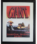 "James Dean - Giant - framed ad for the movie - gorgeous and measures 11""... - $24.99"