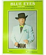 Elton John BLUE EYES Sheet Music VTG 1982 Geffen Records Piano Vocal Guitar - $14.46