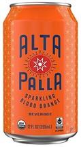 Alta Palla Blood Orange Certified Organic Sparkling Juice, 12 Fluid Ounce Cans,
