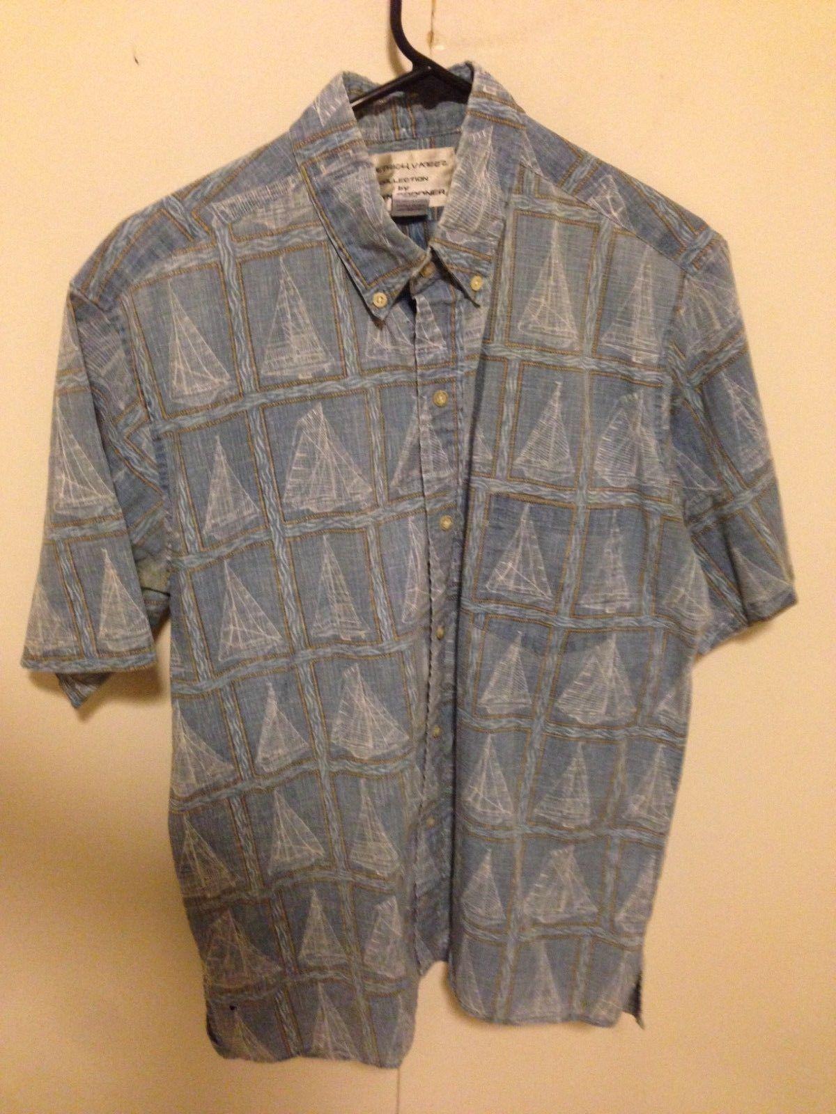 7eaaba1c S l1600. S l1600. Previous. Reyn Spooner Mens Shirt M Detrich Varez Reverse  blue sailboats Hawaiian Aloha