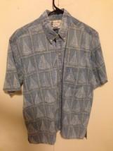 Reyn Spooner Mens Shirt M Detrich Varez Reverse blue sailboats  Hawaiian... - $28.71