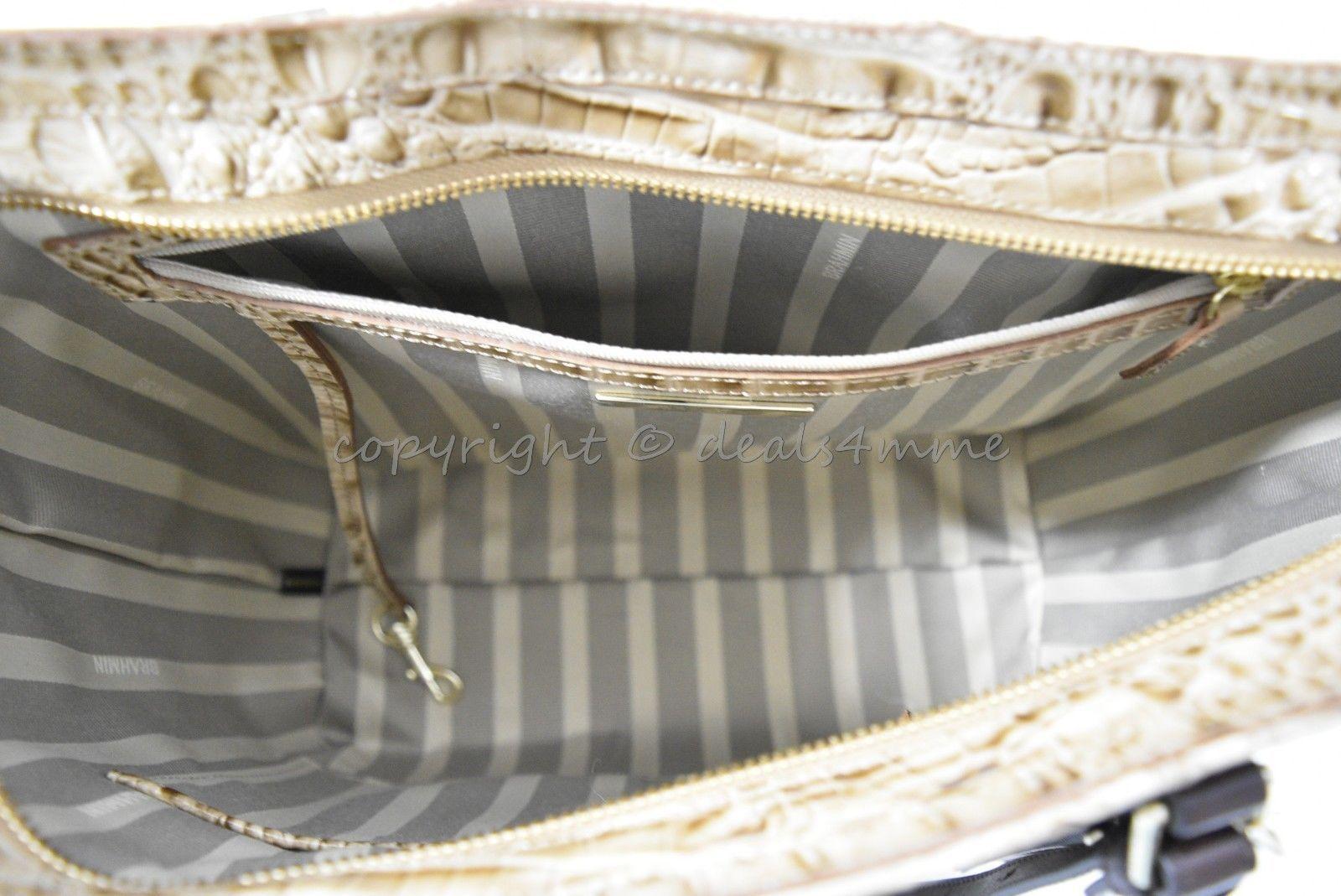 NWT  Brahmin Medium Lena Leather Tote/Shoulder Bag in Travertine Vermeer image 5