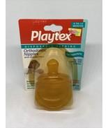 Vintage Playtex Orthodontic Latex Medium Flow Nipples 1998 Drop In 5435 - $25.99