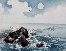 "Japanese Art Asian Meiji Art Poster Print Woodblock Ocean Waves 11""x15"" - $12.38"
