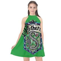 QC Women's Slytherin Halter Neckline Chiffon Dress - $24.75+