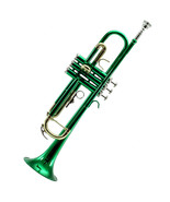 *GREAT GIFT* TOP Quality Bb Green Lacque Trumpet w Hard Case Care Kit CL... - $149.99