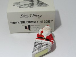 Vintage Department 56 Snow Village Down the Chimney He Goes #5158-6 - $11.35