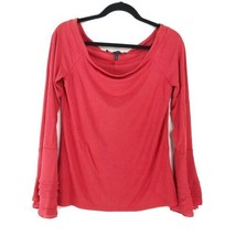 White House Black Market At-the-Shoulder Fitted Bell-Sleeve Top - L - $29.09