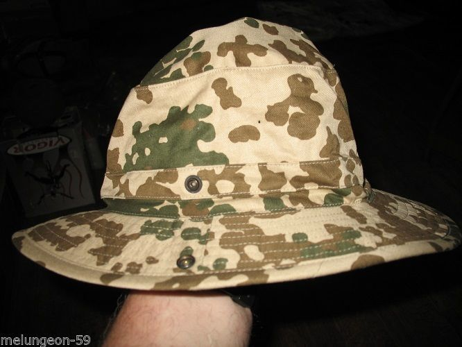 dd389712f698c S l1600. S l1600. Previous. GERMAN MILITARY ISSUE- DESERT   TROPENTARN CAMO  BOONIE HAT- 59CM - USED