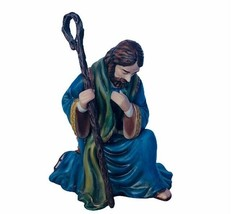Thomas Kinkade Figurine Nativity Father Joseph Staff Hawthorne Village Cottage  - $38.65