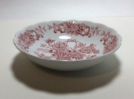 Ridgway Staffordshire Pink Red Old English Bouquet Fruit Dessert Bowl s ... - $11.86