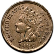 1906 Indian Head Cent Penny Coin Lot A 297 image 1