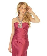 Sophisticated Sexy Embellished Halter Berry Prom Evening Gown Dress Joli... - $199.99