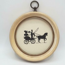 Vintage Silhouette Reverse Painted Wall Hanging Victorian Couple in Carr... - $24.74