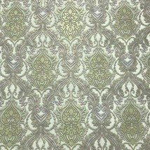 Wallpaper textured Vintage damask gray Gold metallic Victorian wall cove... - $3.50+