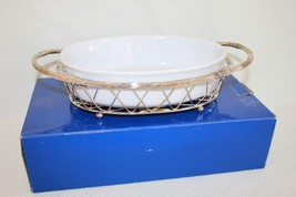 International Silver Company Silver Plated Wire Basket With 1 Qt Stonewa... - £18.15 GBP