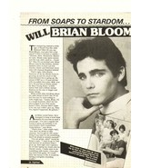 Brian Bloom teen magazine pinup clipping soaps to stardom Hip Hop magazine - $3.50