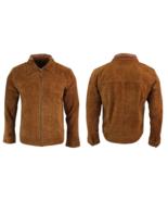 Men's New Latest Fashiion Buckskin Brown Goat Suede Leather Biker Jacket... - $127.51+