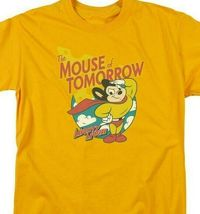 Mighty Mouse The Mouse of Tomorrow retro gold graphic t-shirt CBS960 image 3