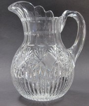 ABP Pitcher American Brilliant Period Cut Glass Antique C10 - $138.97