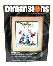 1986 Dimensions Counted Cross Stitch MIP Amish Playtime 3622 Mint Shape  - $29.21