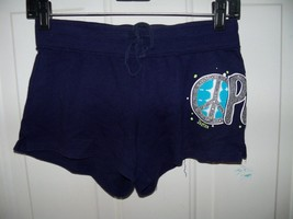 Justice Navy Glitter PEACE Knit Athletic Shorts Size 12 Girl's EUC - $16.00