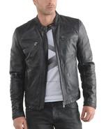 Men Black Real Leather Biker Jacket All Size XS S M L XL XXL 3XL 4XL NEW... - $120.62+
