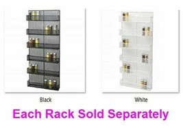 6 Tier Large Wall Mounted Spice Rack, Favorites Organizer Black or White... - $131.89