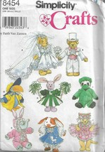 Simplicity Craft Pattern #8454-Faith Van Zanten-Clothes Stuffed Beanbag Animals - $4.95