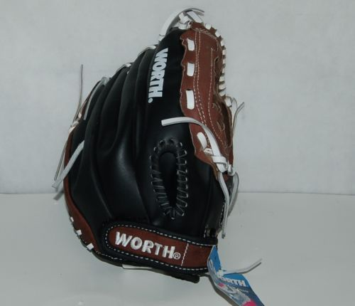 Worth Titan TS120 Baseball Softball Glove 12 Inches Brown Black