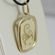 SOLID 18K YELLOW GOLD SCORPIO ZODIAC SIGN MEDAL PENDANT, ZODIACAL, MADE IN ITALY image 2