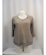 INC International Concepts Women's Sweater Beaded-Shoulder Grey Plus Siz... - $19.97