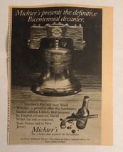 1976 Mitcher's Whisky Advertisement Schaefferstown, PA - $16.00