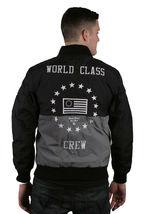 Raison Ny Vêtements Noir et Argent Monde Classe Ras Ripstop Veste Université Nwt image 3
