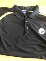 PITTSBURGH STEELERS 100% Polyester authentic Reebok polo shirt men's XL - $17.77