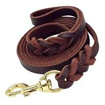 Beirui Braided Brown Genuine Leather Dog Leash - Training & Walking Dog ... - $20.02