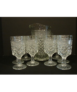 Anchor Hocking Wexford Pattern Wine Glass - Water Goblet 8 Glass Set and... - $22.00
