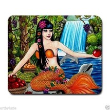 Mousepad Mouse Pad Computer Mat Mermaid 43 dolphin fantasy art by L.Dumas - $305,77 MXN
