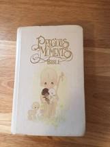 PRECIOUS MOMENTS Children's KJV Holy Bible RED LETTER White Hard Cover - $12.19
